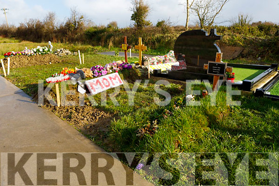 Grave that was exhumed in the St John Paul II cemetery in Listowel