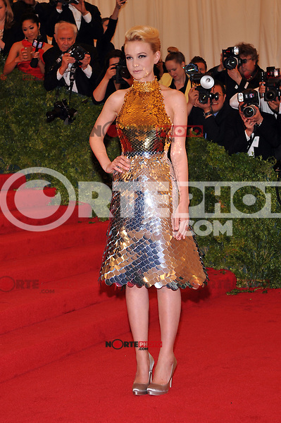 Carey Mulligan at the 'Schiaparelli And Prada: Impossible Conversations' Costume Institute Gala at the Metropolitan Museum of Art on May 7, 2012 in New York City. ©mpi03/MediaPunch Inc.
