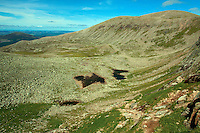 Coire an t-Sneachda and Cairn Gorm from The Goat Track, Cairngorm National Park, Badenoch and Speyside, Highland
