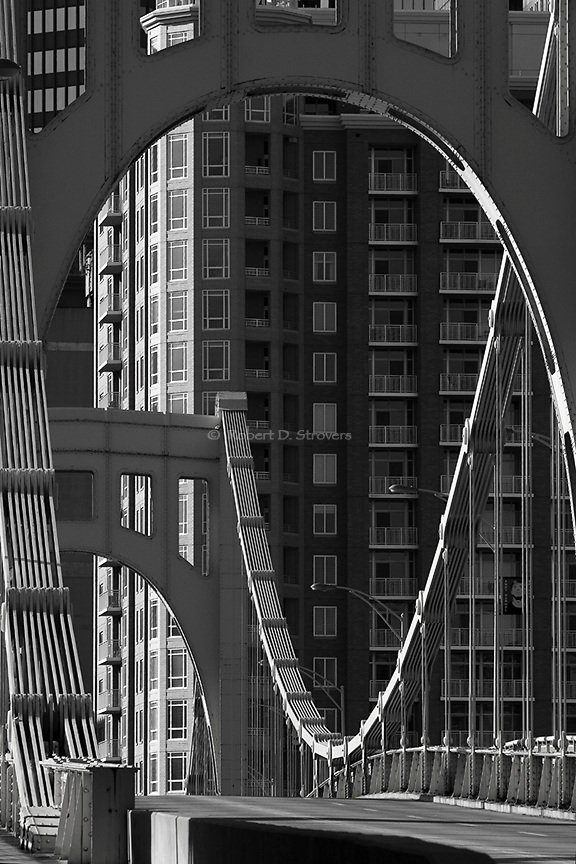 Pittsburgh's Bridges in Black and White -