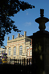 Bedford Corn Exchange viewed from St Paul's churchyard, Bedfordshire, England