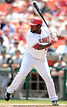 7 June 2007: Washington Nationals first baseman Dmitri Young at bat against the Pittsburgh Pirates at RFK Stadium in Washington, DC. The Pirates defeated the Nationals 3-2 in the third game of their 3-game series...Mandatory Credit: Ed Wolfstein Photo
