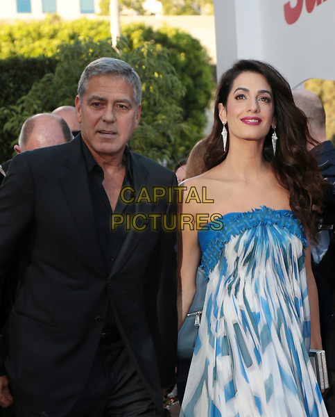 WESTWWOD, CA - October 22: George Clooney, Amal Clooney, At The Premiere Of Paramount Pictures' 'Suburbicon' At the Village Theatre California on October 22, 2017. <br /> CAP/MPI/FS<br /> &copy;FS/MPI/Capital Pictures