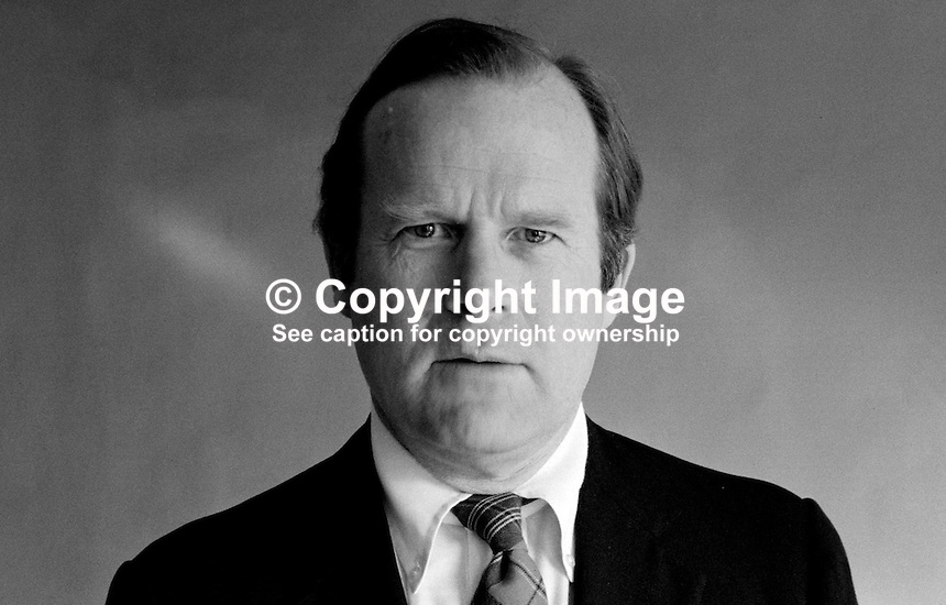 Samuel Bartlett, US Consul General, N Ireland, 19840034SB2..Copyright Image from Victor Patterson, 54 Dorchester Park, Belfast, UK, BT9 6RJ..Tel: +44 28 9066 1296.Mob: +44 7802 353836.Voicemail +44 20 8816 7153.Skype: victorpattersonbelfast.Email: victorpatterson@me.com.Email: victorpatterson@ireland.com (back-up)..IMPORTANT: If you wish to use this image or any other of my images please go to www.victorpatterson.com and click on the Terms & Conditions. Then contact me by email or phone with the reference number(s) of the image(s) concerned.