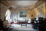 Il Salotto Blu al Castello di Pralormo.