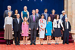 King Felipe VI, Queen Letizia, Princess of Asturias Leonor and Infant Sofia attend auddience  with prizewinnings of Princess of Asturias Awards 2019 . October 18, 2019.. (ALTERPHOTOS/ Francis Gonzalez)