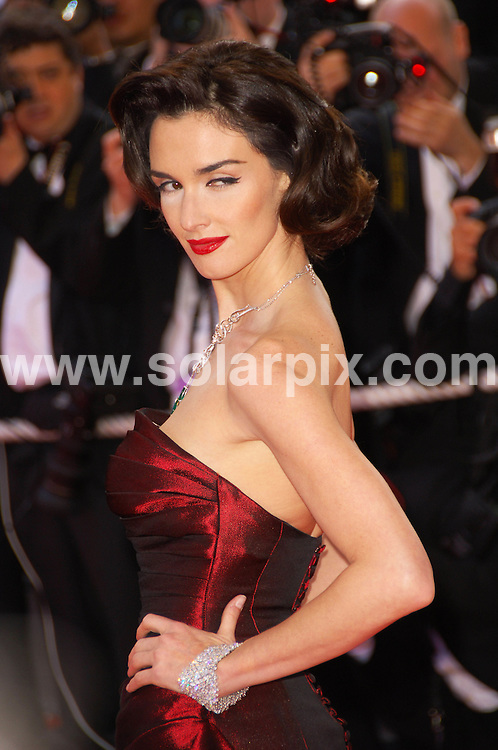 **ALL ROUND PICTURES FROM SOLARPIX.COM**.**WORLDWIDE SYNDICATION RIGHTS**.Indiana Jones world Premiere Cannes film festival Cannes in France.This pic:Paz Vega.JOB REF:6441-MSR    DATE:18_05_08 .**MUST CREDIT SOLARPIX.COM OR DOUBLE FEE WILL BE CHARGED* *UNDER NO CIRCUMSTANCES IS THIS IMAGE TO BE REPRODUCED FOR ANY ONLINE EDITION WITHOUT PRIOR PERMISSION*