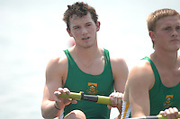 Beijing, CHINA, RSA JM4-, Bow, Nicholas MOLENAAR, Chris HAYES, Keiron WHITE and Wesley HONEY, during the  2007. FISA Junior World Rowing Championships Shunyi Water Sports Complex. Wed. 08.08.2007  [Photo, Peter Spurrier/Intersport-images]..... , Rowing Course, Shun Yi Water Complex, Beijing, CHINA,