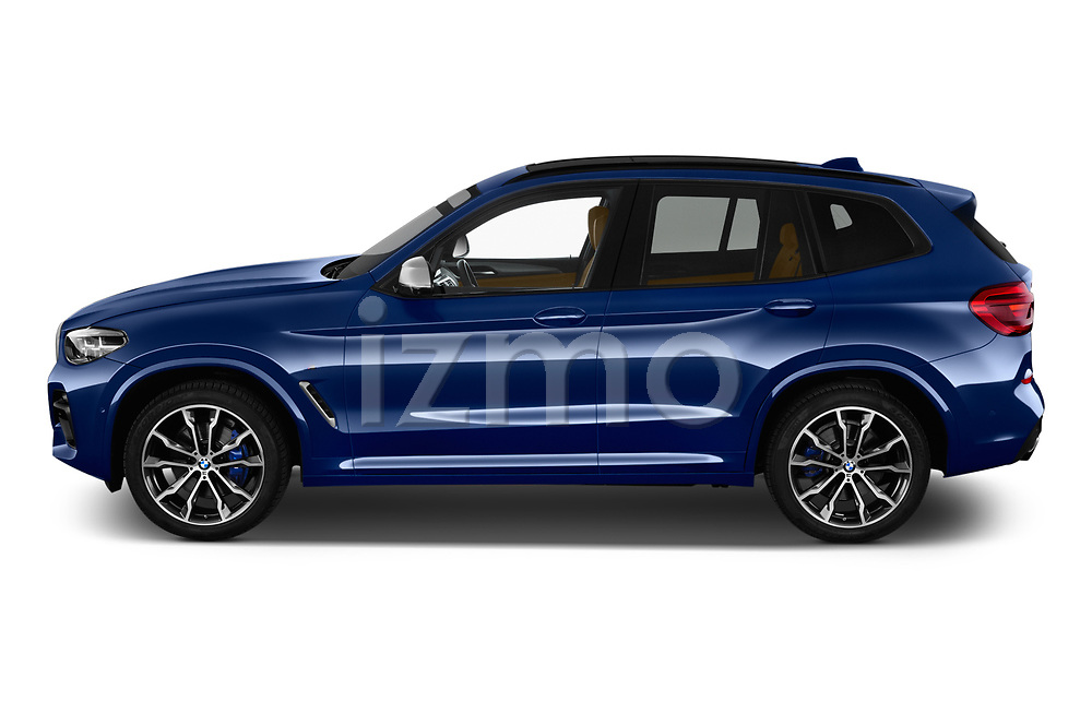 Car driver side profile view of a 2018 BMW X3 base 5 Door SUV