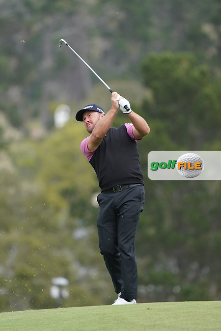 Graeme McDowell (NIR) in action during the third round of the AT&T Pro-Am, Pebble Beach, Monterey, California, USA. 07/02/2020<br /> Picture: Golffile | Phil Inglis<br /> <br /> <br /> All photo usage must carry mandatory copyright credit (© Golffile | Phil Inglis)