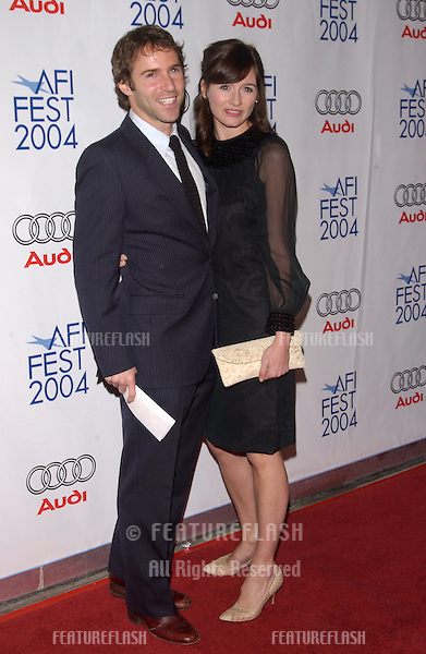 Nov 5, 2004; Los Angeles, CA, USA;  Actress EMILY MORTIMER & husband actor ALESSANDRO NIVOLA at the USA premiere of Beyond the Sea. The movie was the opening night film for the 2004 AFI Fest.