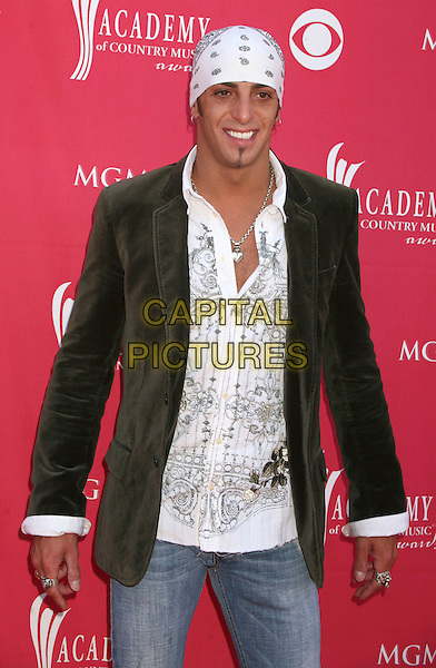 TRENT TOMLINSON .42nd Annual Academy Of Country Music Awards held at the MGM Grand Garden Arena, Las Vegas, Nevada, USA..May 15th, 2007.half length white bandana goatee facial hair black suit jacket shirt.CAP/ADM/BP.©Byron Purvis/AdMedia/Capital Pictures