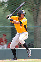GCL Pirates outfielder Jose Osuna #16 at bat during a game against the GCL Braves at Disney Wide World of Sports on June 25, 2011 in Kissimmee, Florida.  The Pirates defeated the Braves 5-4 in ten innings.  (Mike Janes/Four Seam Images)