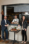 Laurent Kalkotour, center, Leslie Affre, left, and Alexander LaPratt at Beast & Bottles in Brooklyn Heights. <br /> <br /> Whole duck feast: Long Island duck, smoked breast with wild honey and lavender.<br /> <br /> Charcuterie- selection of housemade terrines (rabbit, pork and foie gras, duck)<br /> <br /> Buckwheat galettes (goes with duck for confit of leg to roll it up and pickled carrots)<br /> <br /> <br /> <br /> Danny Ghitis for The New York Times
