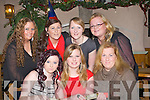 LA CARTE: Friend from Casement Park, Ardfert met up in Kate Brown's Bar & Restaurant to celebrate Women's Christmas Friday night. Front l-r: Laura and Fiona Lawlor and Rosie Silles. Back l-r: Michelle and Sinead O'Connor, Liz Hardyman and Deirdre Lawlor...