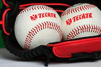 Tecate logo, glove, ball, bat, baseball accessories, baseball equipment,<br /> Logotipo Tecate, Guante, pelota,  bat,accesorios del Besbol, Equipamento de Beisbol, <br /> <br /> (Photo:Luis Gutierrez/ NortePhoto.com)