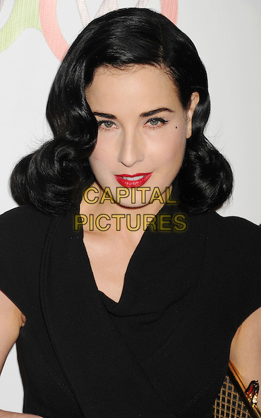 Dita Von Teese.The Opening of Kimberly Snyder's Glow Bio in West Hollywood in West Hollywood, California,.November 14th, 2012.headshot portrait black red lipstick .CAP/ROT/TM.©Tony Michaels/Roth Stock/Capital Pictures