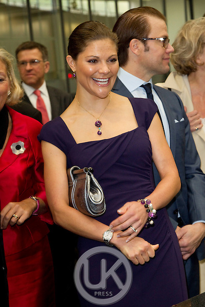 Crown Princess Victoria, and Prince Daniel of Sweden on a two day official visit to France..Visit to the Chocolate Creator Patrick Roger.