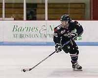 Boston, Massachusetts - December 3, 2016: NCAA Division I women's hockey. University of Connecticut (blue) defeated Boston University (white), 2-1, at Walter Brown Arena.