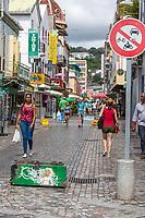 Fort-de-France, Martinique.  Rue de la Republique, a Pedestrian Walkway.