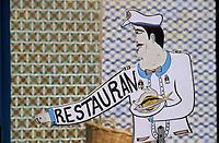 Afrique/Afrique du Nord/Tunisie/Kélibia : Enseigne d'un restaurant