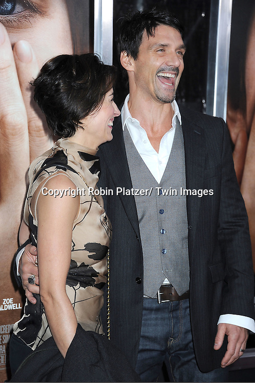 """Wendy Moniz and Frank Grillo attend the New York Premiere of """" Extremely Loud & Incredibly Close"""" on December 15, 2011 at The Ziegfeld Theatre in New York City. The movie stars Tom Hanks, Sandra Bullock, Thomas Horn, Max von Sydow, Viola Davis and Jeffrey Wright."""