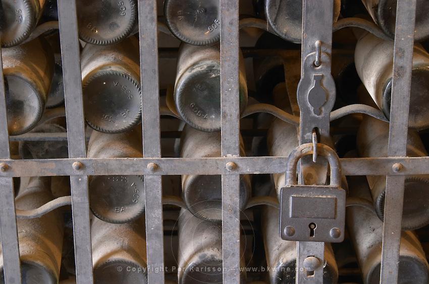 Bottles aging in the cellar. JM Jose Maria da Fonseca, Azeitao, Setubal, Portugal