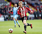 Mark Duffy of Sheffield United during the Emirates FA Cup Round One match at Bramall Lane Stadium, Sheffield. Picture date: November 6th, 2016. Pic Simon Bellis/Sportimage