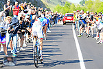 Thibaut Pinot (FRA) FDJ in action during Stage 19 of the 100th edition of the Giro d'Italia 2017, running 191km from San Candido/Innichen to Piancavallo, Italy. 26th May 2017.<br /> Picture: LaPresse/Fabio Ferrari   Cyclefile<br /> <br /> <br /> All photos usage must carry mandatory copyright credit (&copy; Cyclefile   LaPresse/Fabio Ferrari)