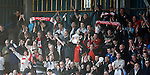 Stirling Albion fans celebrate at full-time