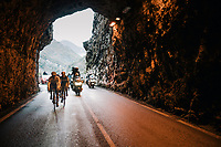 race leaders in to the tunnel<br /> <br /> 76th Paris-Nice 2018<br /> Stage 7: Nice &gt; Valdeblore La Colmiane (175km)