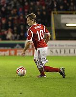 Niall McGinn in the Aberdeen v St Mirren Scottish Communities League Cup match played at Pittodrie Stadium, Aberdeen on 30.10.12.