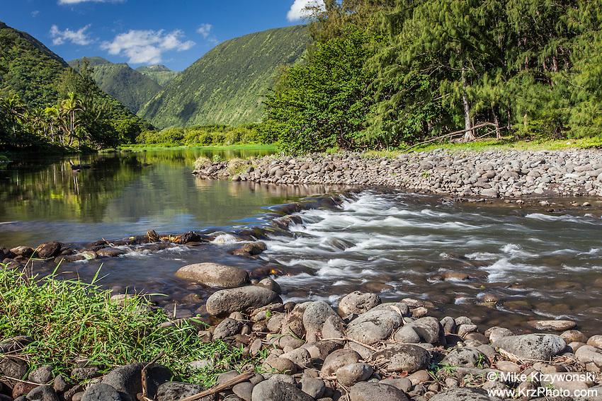 Waipio Valley River, Big Island, Hawaii