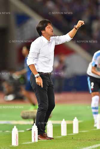 Hiroshi Nanami (Jubilo),<br /> JULY 23, 2016 - Football / Soccer :<br /> Jubilo Iwata head coach Hiroshi Nanami during the 2016 J1 League 2nd stage match between Yokohama F Marinos 1-1 Jubilo Iwata at Nissan Stadium in Kanagawa, Japan. (Photo by AFLO)