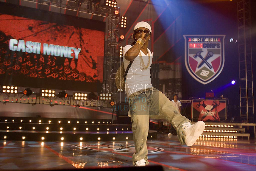 Lil Wayne performs during the Boost Mobile RockCorps concert at The Fox Theatre in Atlanta on Saturday, June 9, 2007.