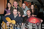 "TALENT LAUNCH: Rory Maher, Sean Murphy, Sharon Alman, Gerry Adams, Denis Brosnan and Rachel Snook pictured at the launch of ""Stars of the Bars"" talent competition in Squires Bar, Killarney on Monday 28th December."