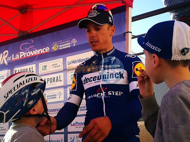 Philippe Gilbert (BEL) Deceuninck–Quick Step wins Stage 3 of the 2019 Tour de La Provence, running 185.5km from Aubagne to Circuit du Castellet, France. 16th February 2019.<br /> Picture: SHIFT Active Media | Cyclefile<br /> <br /> <br /> All photos usage must carry mandatory copyright credit (© Cyclefile | SHIFT Active Media)