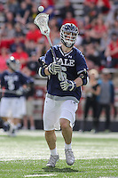College Park, MD - February 25, 2017: Yale Bulldogs Brendan Mackie (6) passes the ball during game between Yale and Maryland at  Capital One Field at Maryland Stadium in College Park, MD.  (Photo by Elliott Brown/Media Images International)
