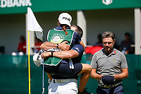 Lee Westwood (ENG) celebrates on the 18th green during the final round of the Nedbank Golf Challenge hosted by Gary Player,  Gary Player country Club, Sun City, Rustenburg, South Africa. 11/11/2018 <br /> Picture: Golffile | Tyrone Winfield<br /> <br /> <br /> All photo usage must carry mandatory copyright credit (&copy; Golffile | Tyrone Winfield)