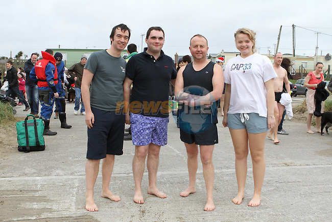 Stephens Day Swim at Clogherhead Beach...(Photo credit should read Jenny Matthews www.newsfile.ie)....This Picture has been sent you under the conditions enclosed by:.Newsfile Ltd..The Studio,.Millmount Abbey,.Drogheda,.Co Meath..Ireland..Tel: +353(0)41-9871240.Fax: +353(0)41-9871260.GSM: +353(0)86-2500958.email: pictures@newsfile.ie.www.newsfile.ie.