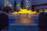 Nanjing, Jiangsu, China.  Buddha Sculpture in Usnisa Palace, Niushou Mountain.