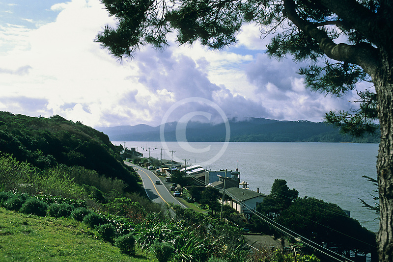 California, Tomales Bay, The town of Marshall on Highway One