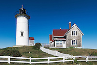 Nobska Point Lighthouse, Famouth, Cape Cod, Massachusetts, USA