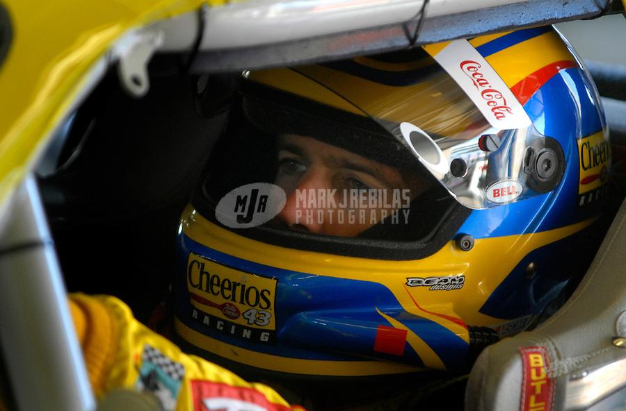 Nov 5, 2006; Fort Worth, TX, USA; Nascar Nextel Cup driver Bobby Labonte (43) during the Dickies 500 at Texas Motor Speedway. Mandatory Credit: Mark J. Rebilas