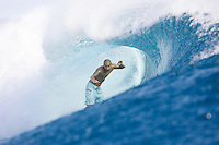 BOBBY MARTINEZ (USA) surfing at Teahupoo,Tahiti. Photo: Joli
