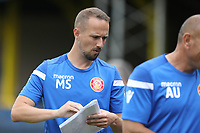 Stevenage FC assistant coach Mark Sampson during St Albans City vs Stevenage, Friendly Match Football at Clarence Park on 13th July 2019