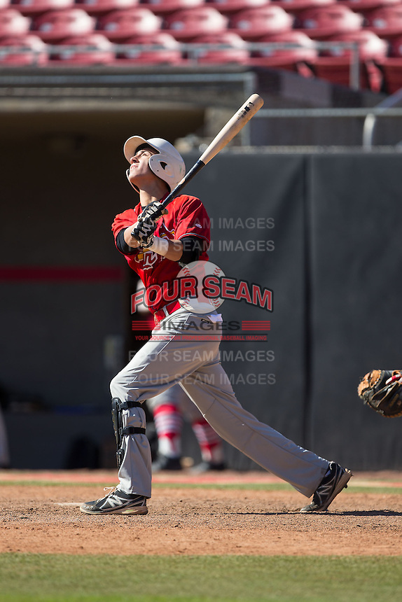 Brandon Martorano (11) of Christian Brothers Academy in Lincroft, New Jersey playing for the St. Louis Cardinals scout team at the South Atlantic Border Battle at Doak Field on November 2, 2014.  (Brian Westerholt/Four Seam Images)