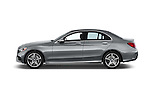 Car Driver side profile view of a 2015 Mercedes Benz C-Class C300 Sport 4 Door Sedan Side View