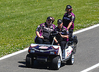 Jun. 1, 2014; Englishtown, NJ, USA; Crew members for NHRA top fuel driver Leah Pritchett during the Summernationals at Raceway Park. Mandatory Credit: Mark J. Rebilas-