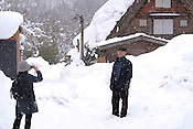 The mountain town of Shirakawa opens to tourists a few times in winter. Shirakawa contains heritage-protected old-style thatch-roofed houses.